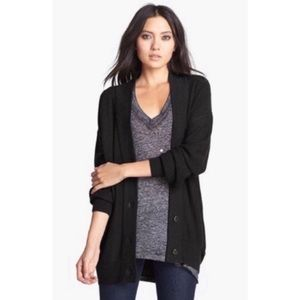 Leith Button Down Knit Black Cardigan